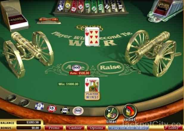 Casino game of war