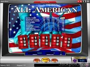All American Video Poker chartwell