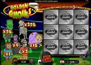 Golden Ghouls Scratch microgaming