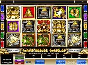 Gopher Gold Slots microgaming