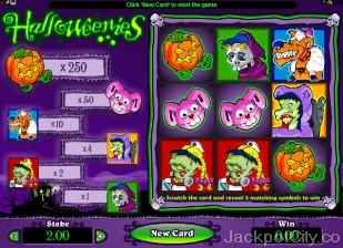 Halloweenies Instant Win microgaming