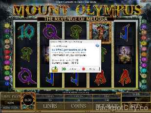 Mount Olympus - Revenge of Medusa microgaming