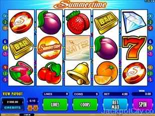 Summertime Slots microgaming