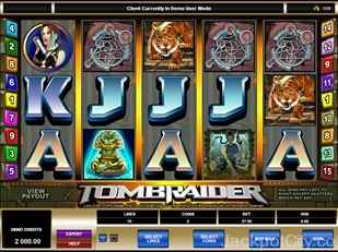 Tomb Raider Slots microgaming