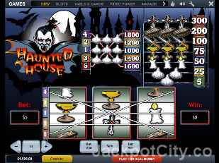 Haunted House Slots playtech